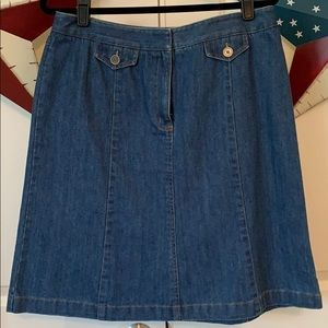 VINTAGE Talbots Blue Jean Mini Skirt - NWT